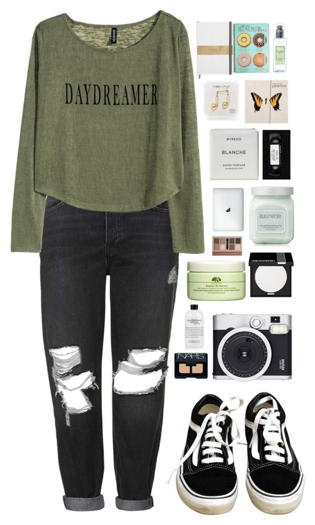 """""""Daydreaming"""" by ellac9914 ❤ liked on Polyvore featuring мода, Topshop, H&M, Vans, Happy Plugs, Byredo, Laura Mercier, Origins, Forever 21 и MAKE UP FOR EVER"""