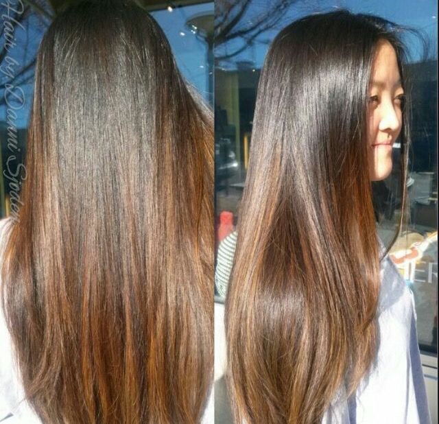 Balayage Black Hair Indian Straight