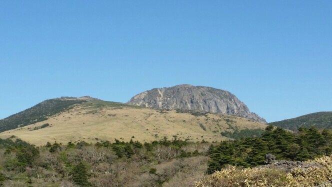 Eorimok track on Hallasan Mountain view
