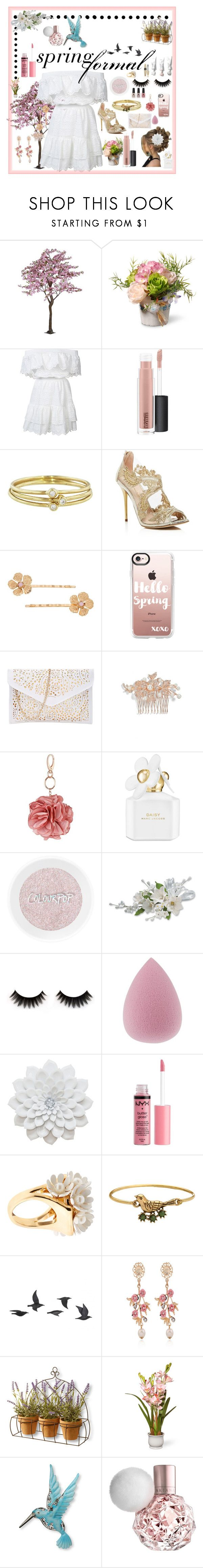 """Competition ~ Spring Formal"" by randomgirl03 ❤ liked on Polyvore featuring National Tree Company, LoveShackFancy, MAC Cosmetics, Jennifer Meyer Jewelry, Oscar de la Renta, LC Lauren Conrad, Casetify, Nina, Miss Selfridge and Marc Jacobs"