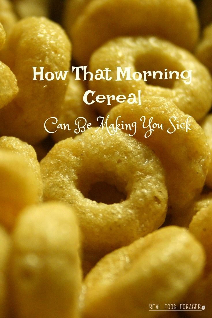 How That Morning Cereal Can Be Making You SickEdit description