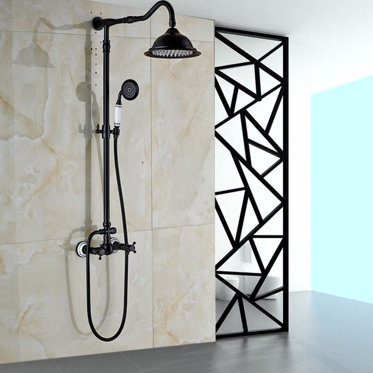 """122.98$  Watch now - http://ali661.worldwells.pw/go.php?t=32678649073 - """"Wall Mounted Rainfall 8"""""""" Shower Panel Dual Handle Bathroom Shower Faucet System with Handheld Shower"""""""