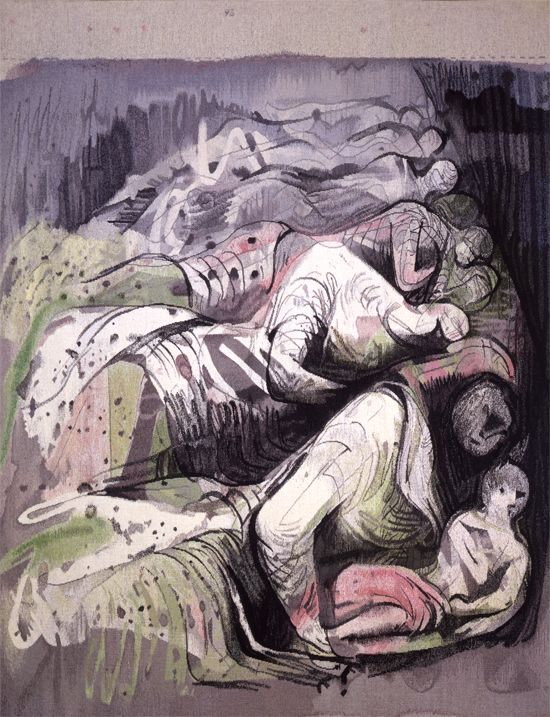 Row of Sleepers 1986 by Henry Moore. Reproduced by the Henry Moore Foundation
