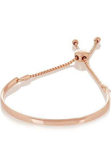 Monica Vinader rose gold plated bracelet