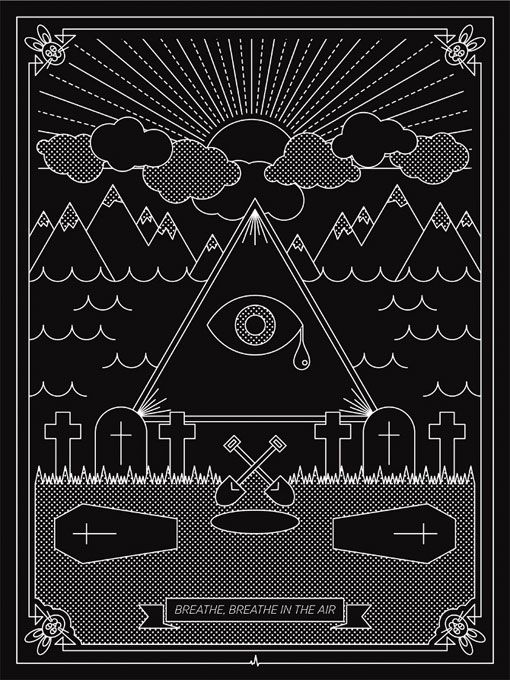 Stunning. Dark side of the moon posters by Stewart Scott-Curran.