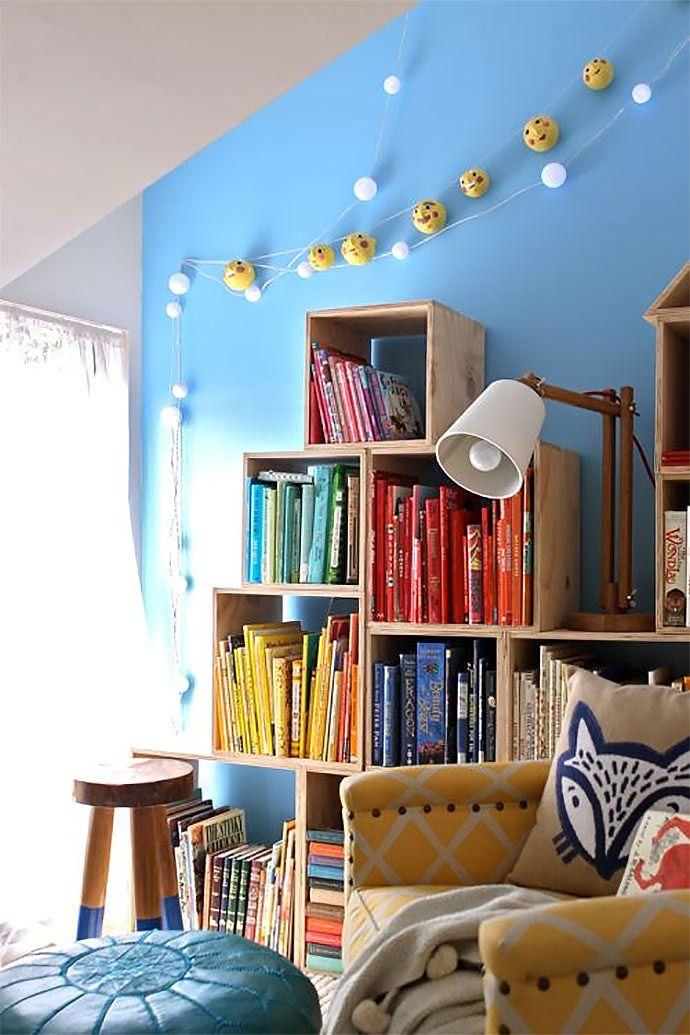 DIY Crate Shelves via Design Mom