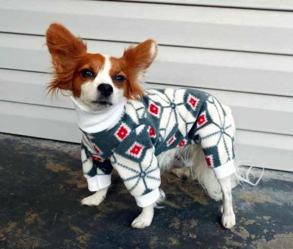 There is nothing more comforting than slipping into a comfy pair of warm pajamas in the winter. Now, your pet can enjoy the wonders of pajamas as well! These super cute pajamas are made of soft, stretchy material that is both comfortable and warm. The groin area and back end are