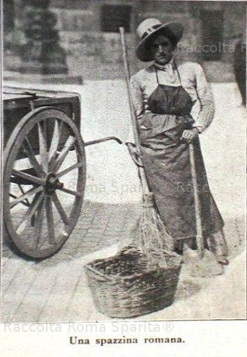 : Spazzina romana Anno: 1917