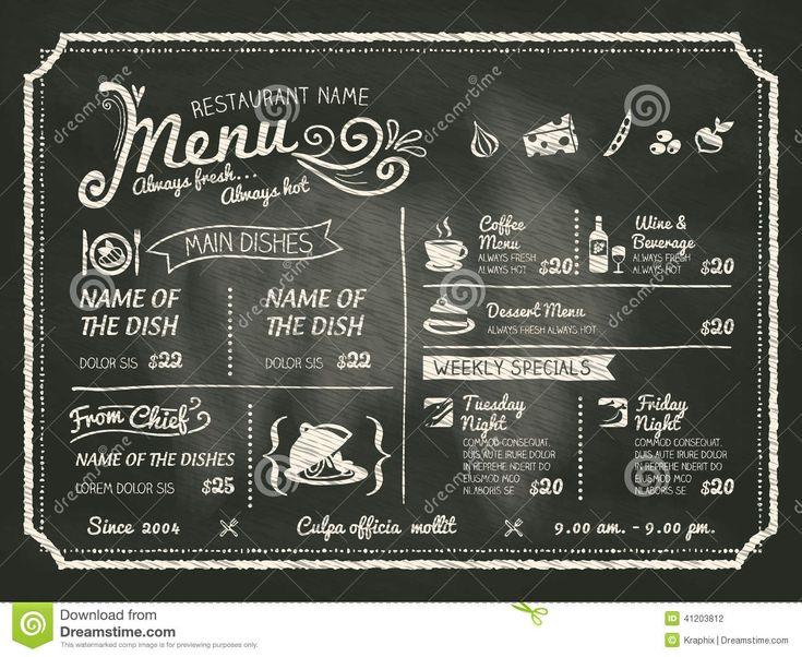 Diseño Del Menú De La Comida Del Restaurante Con El Fondo De La Pizarra - Descarga De Over 36 Millones de fotos de alta calidad e imágenes Vectores% ee%. Inscríbete GRATIS hoy. Imagen: 41203812