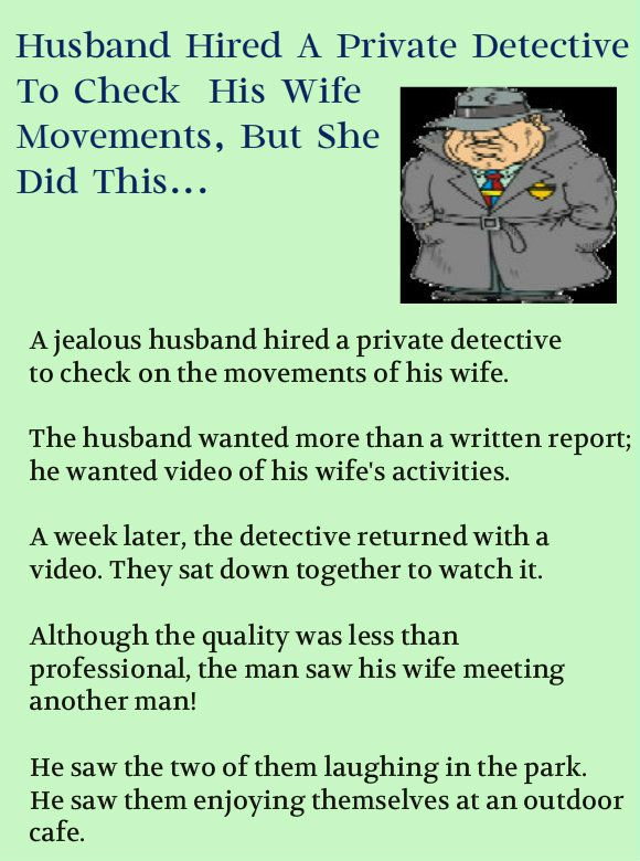 HUSBAND WIFE JOKES & FUNNY STORY an Hired A Detective To Check His Wife