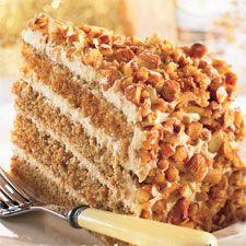 Gâteau étagé au café, au mascarpone et aux amandes