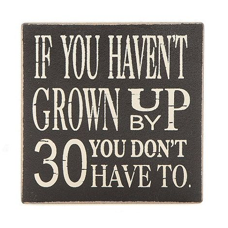 Heaven Sends Wooden 'Grow up by 30' magnet- at Debenhams.com