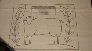 Free Primitive Sheep Pattern | PRIMITIVE HOOKED RUG PATTERNS « Free Patterns