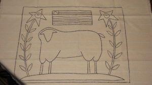 Free Primitive Sheep Pattern | PRIMITIVE HOOKED RUG PATTERNS « Free Patterns