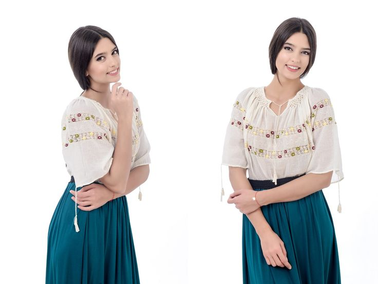 Ie stilizata cu maneca scurta! #romanianlabel #romanianblouse