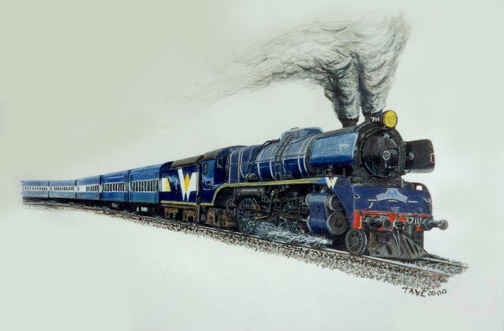 West Coast Rail R-711   Drawn in colour pencil