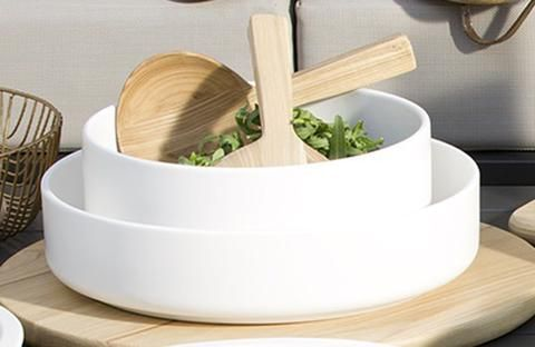 Mint Home | Sienna Shallow Bowl in White