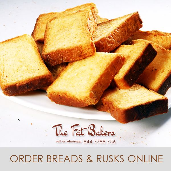 Order Breads & Rusks Online New Delhi, India from the Fat Bakers- Best Price Shop & Home Delivery Service Available. Call or WhatsApp +91- 844 7788 756 or Visit: - http://thefatbakers.com/bread-n-rusks-in-new-delhi.html
