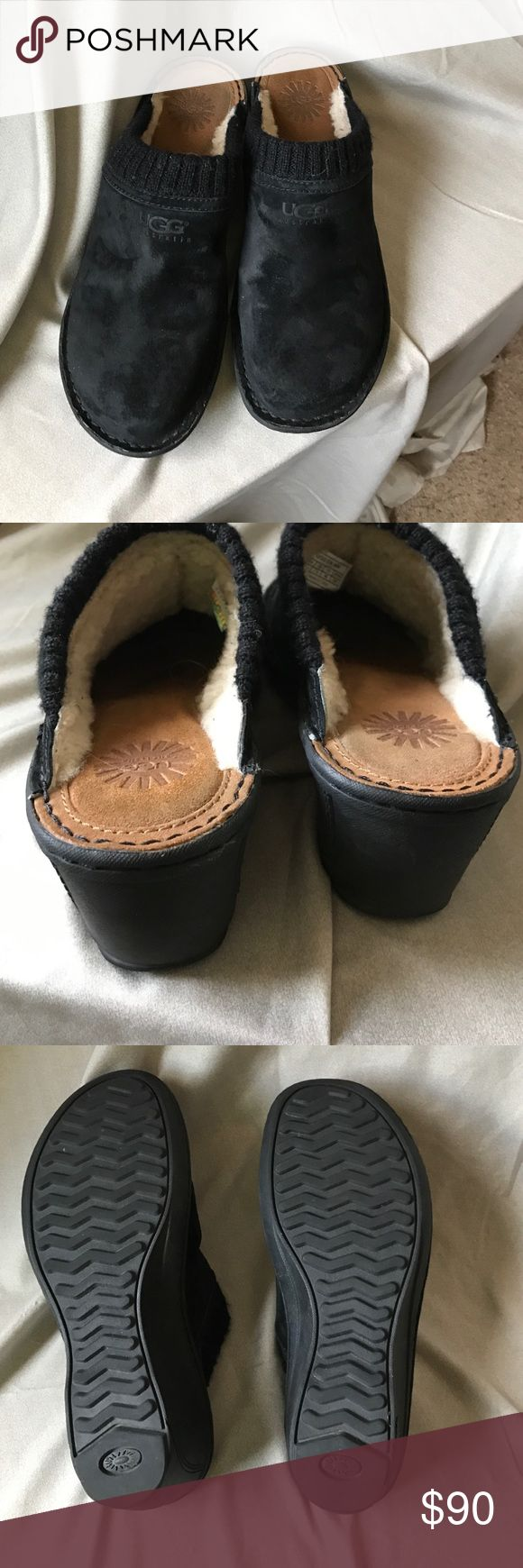 Uggs Gael clog Worn it three time, it's ... Womens Clogs are the ultimate in luxury and comfort. Black Leather. It's authentic. Retail:$160.00 UGG Shoes Mules & Clogs