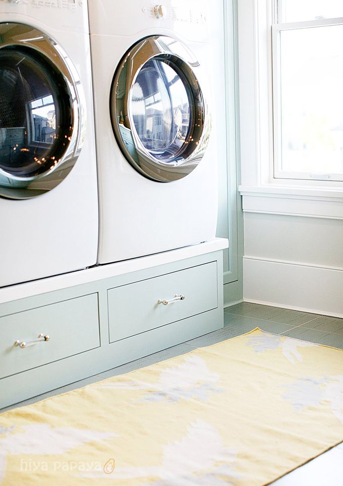 Palladian blue cabinets - laundry room