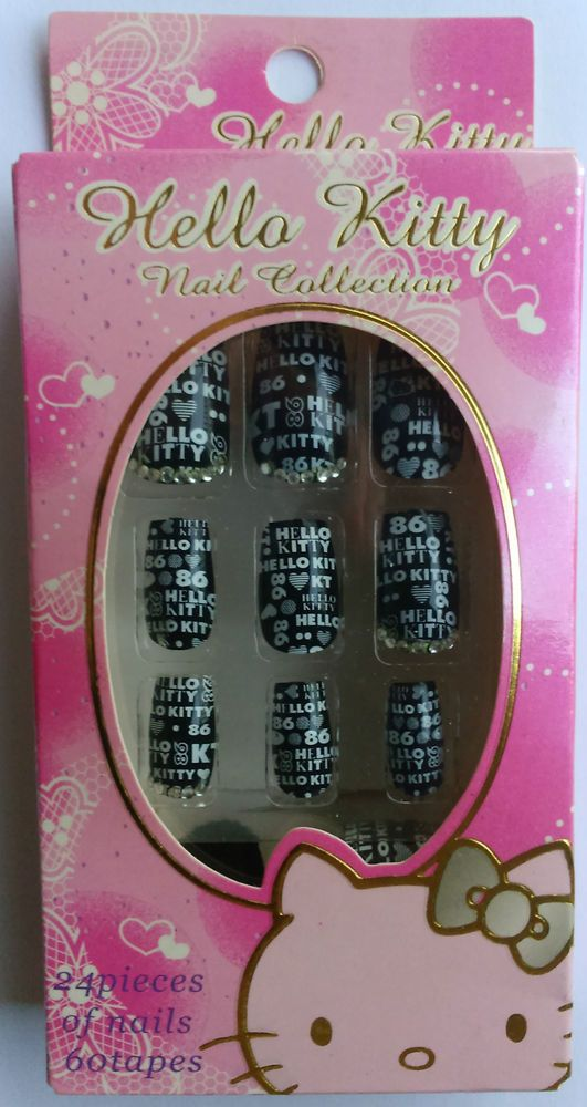 Faux ongles Hello Kitty Gothic Lolita import Japon