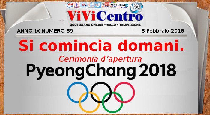 Olimpiadi Invernali PyeongChang 2018: si comincia domani