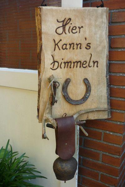 Türglocke, Türschelle, Klingel von Holz- Kreativ auf ...