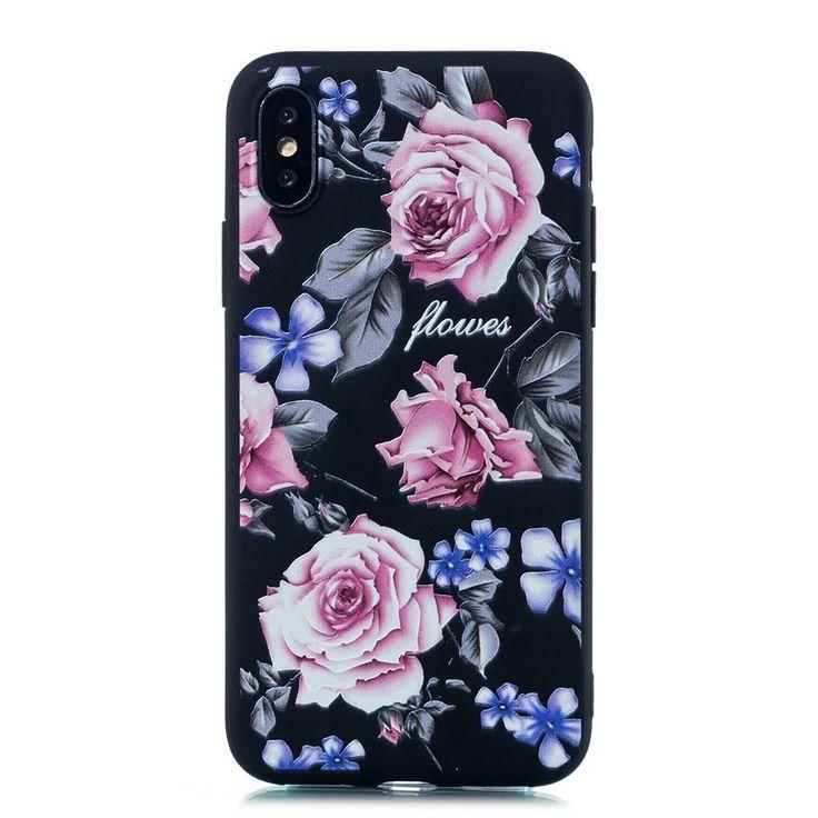 Kisscase fashion flower case for iphone 8 7 6 6s plus x xs