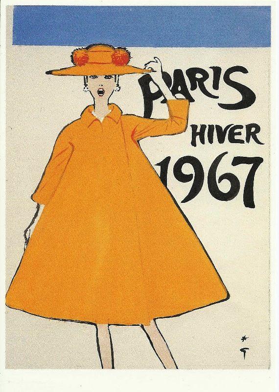 Paris Chapeaux 1967 -Gruau