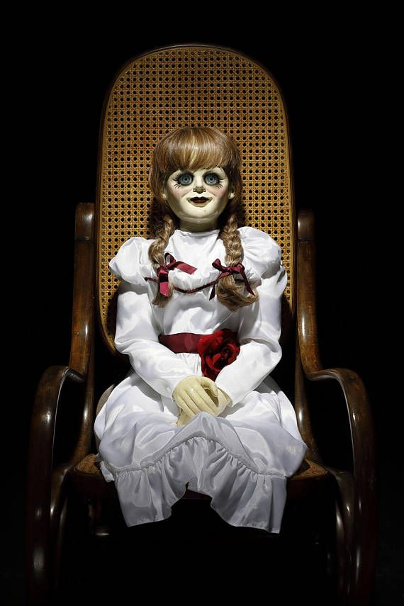Need a creepy maybe haunted doll to freak people out with. This Creepy Annabelle doll is a great addition to your weird doll collection.