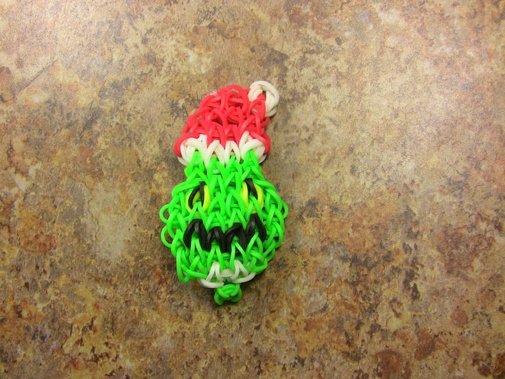 sandylandya.arco iris telar Navidad   El Grinch Rainbow Loom pulsera para las vacaciones de Navidad - YouTube