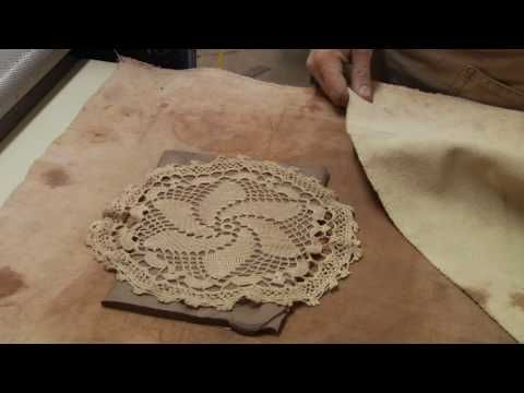 Clay Pottery Slab Building : Lace Texture Tips for Clay Slabs