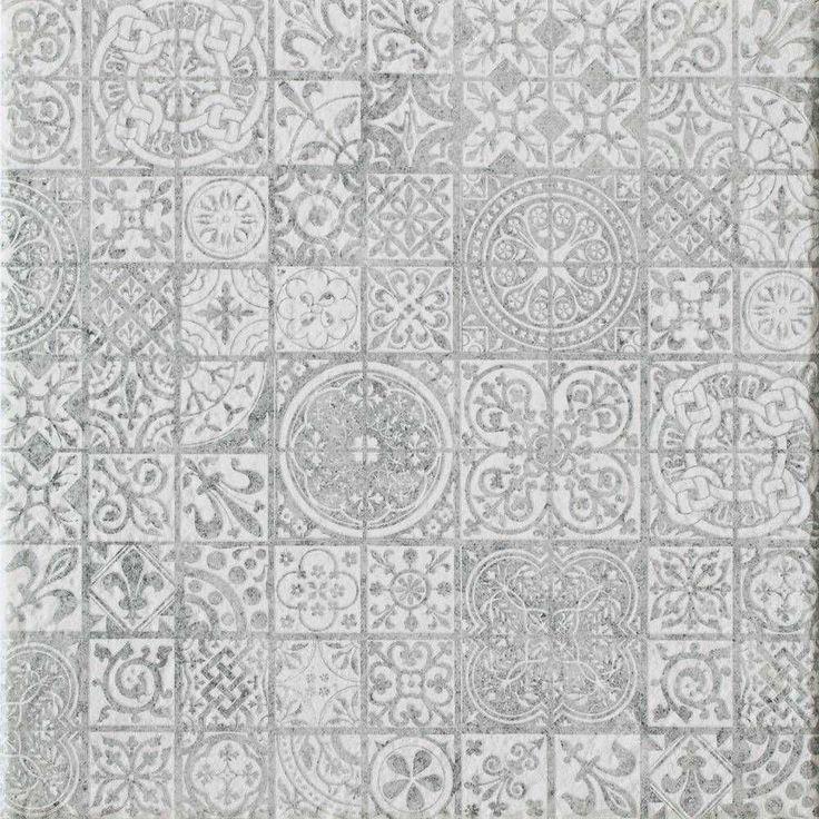 Akmens masės plytelės INDOS GREY GRAFICA, 32,6 x 32,6 cm