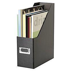 Snap N Store® Magazine Holder, Letter Size, Black Item # 479036