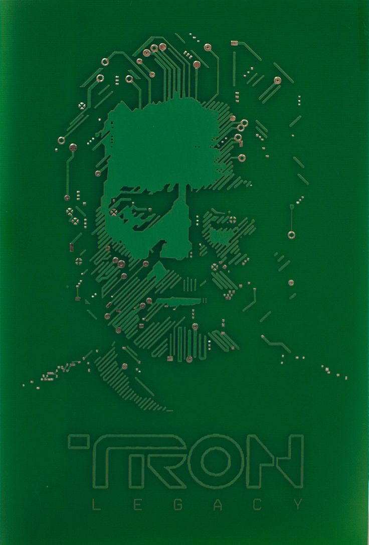 Tron FLYNN LIVES Real Printed Circuit Board PCB. $14.99, via Etsy.