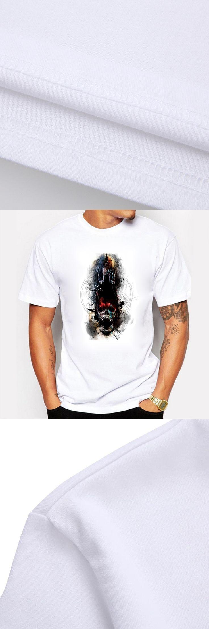Ghost Game Throne Fashion Summer Men T Shirt Cotton Vampire Demogorgon Print  Swag O-neck T-shirt for Men