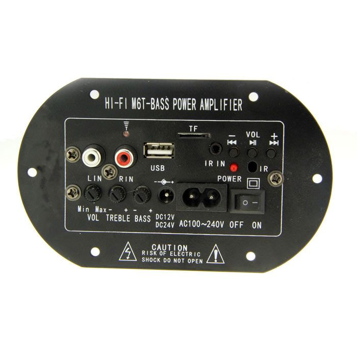 DC /AC Subwoofer MP3 Decoding Amplifier Board w/ TF - Black + Silver + Green
