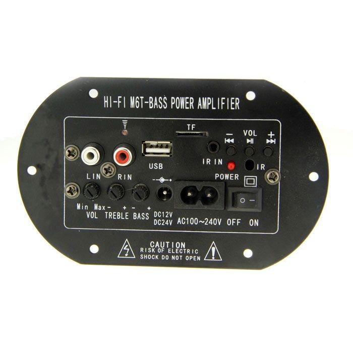 DC /AC Subwoofer MP3 Decoding Amplifier Board w/ TF - Black + Silver + Green