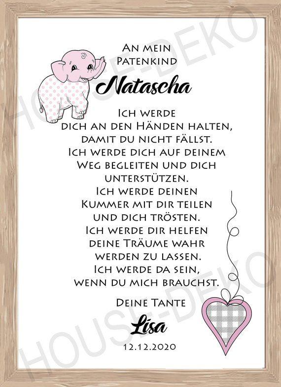 Patent Letter Taufbrief Gift 6 Sprüche Zur Taufe