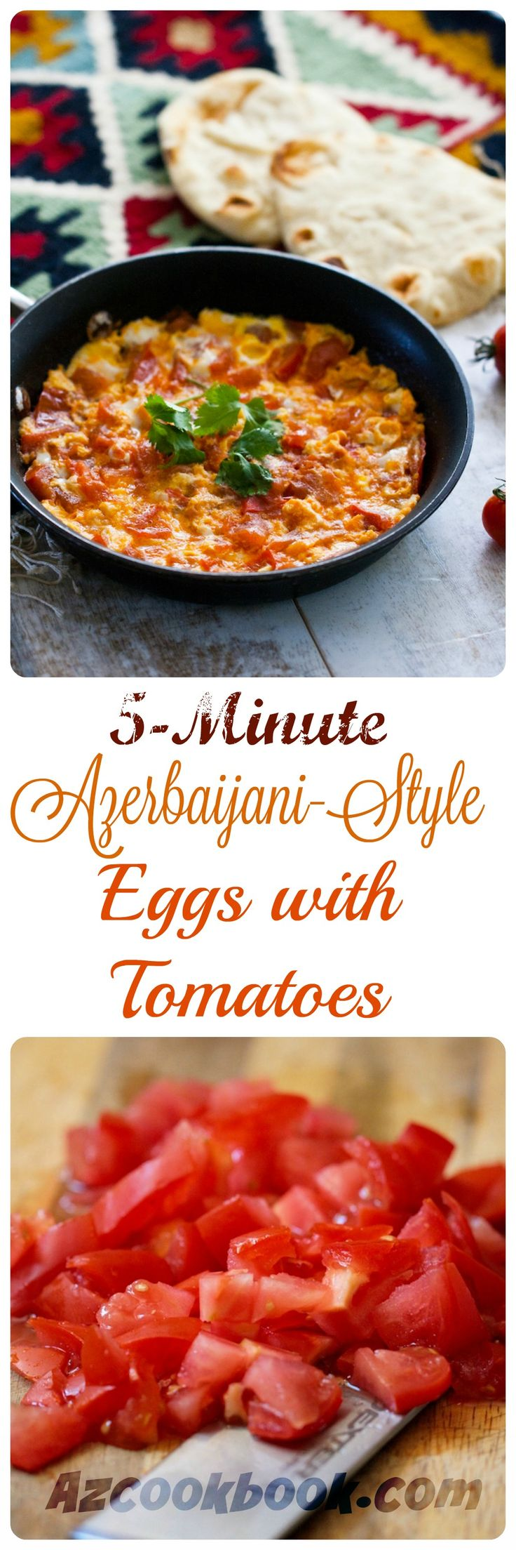 İt takes just 5 minutes to prepare this delicious concoction of tender tomatoes and eggs. Best and easy choice for breakfast | Azcookbook.com