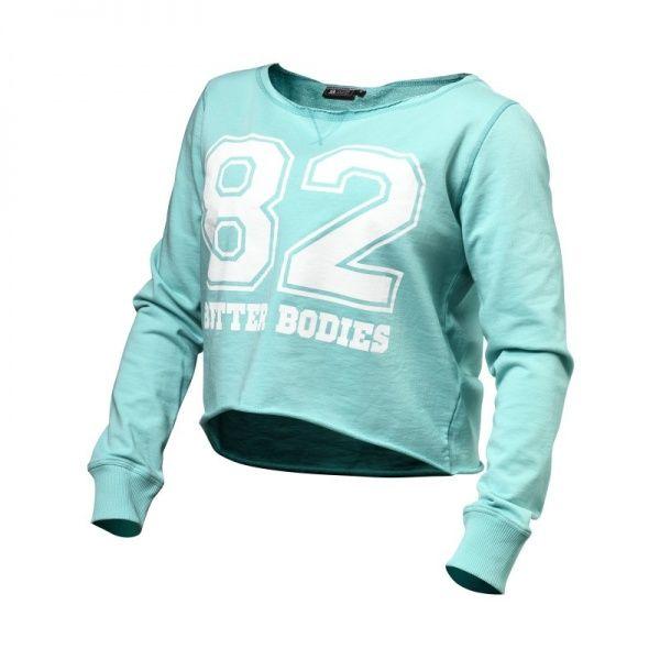 Morsom og kul treningsgenser til trening og fritid, Better Bodies Cropped Sweater treningsgenser. Fri frakt over kr 400, gratis bytte og 100% fornøydgaranti.