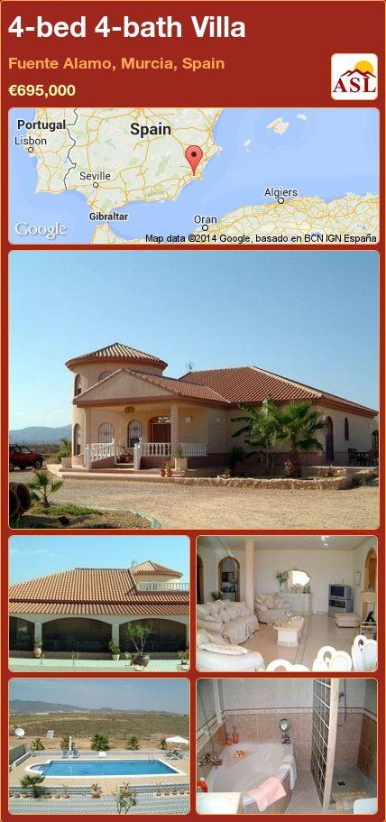 4-bed 4-bath Villa in Fuente Alamo, Murcia, Spain ►€695,000 #PropertyForSaleInSpain