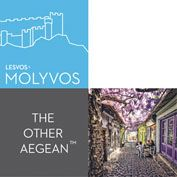 Molyvos, logo L  for Lesvos. The Other Aegean