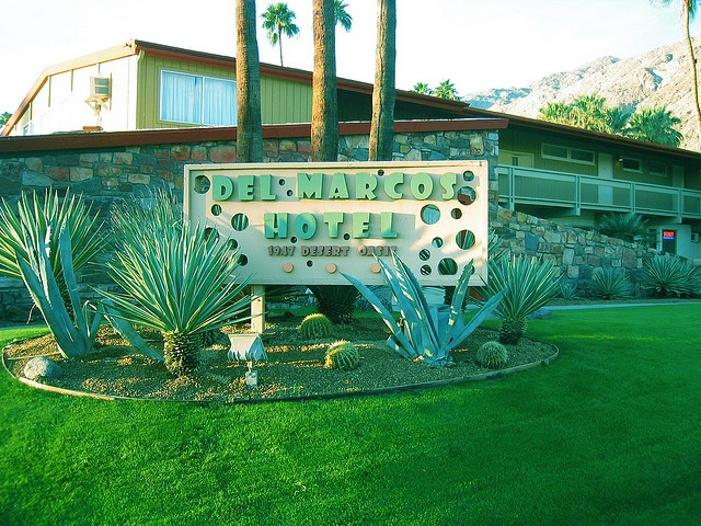 Del Marcos Hotel Green With Envy Pinterest Palm Springs And Mid Century Modern