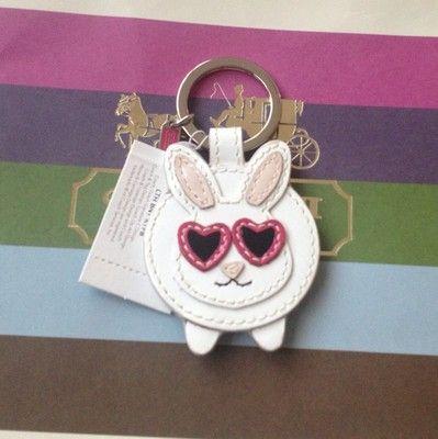 Coach 93083 Bunny Mink Rabbit Keychain Keyring Key Fob Charm | eBay