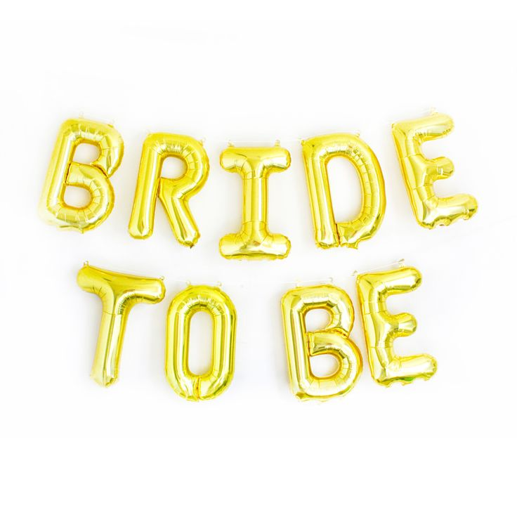 Letter Balloons, Bridal Showers And