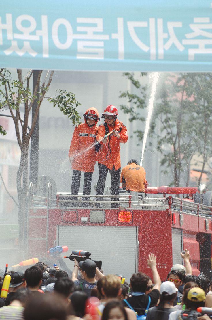 festival, 축제, 물총축제, 신촌, 소방수, fireman