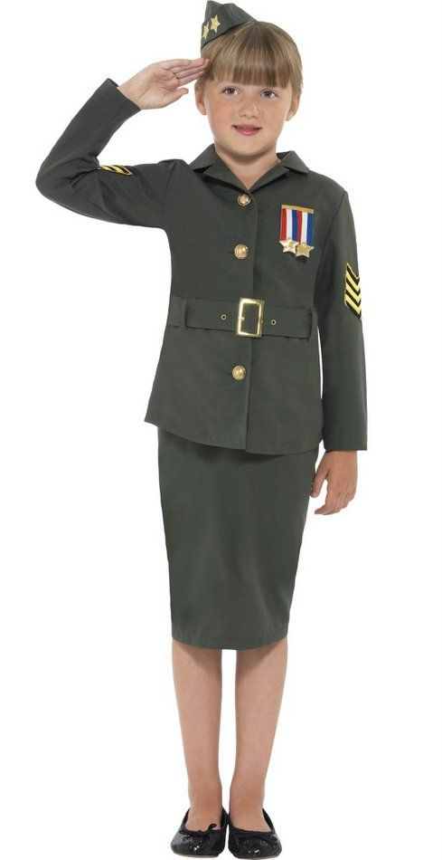 Child's World War II Army Girl Costume - Candy Apple Costumes - Girls' Costumes