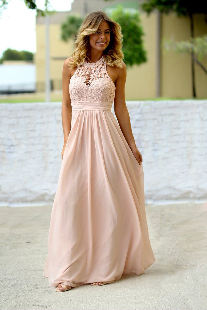 Bridesmaids ALERT!!! This super elegant and stunning new Shell Crochet Maxi Dress will blow your mind! Perfect for any special occasion! We love its beautiful crochet top and open back! - 100% Polyest