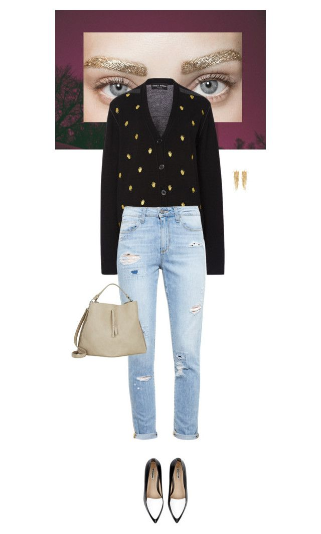 """""""Outfit of the Day"""" by wizmurphy ❤ liked on Polyvore featuring Sonia Rykiel, Paige Denim, Maison Margiela, Whistles, Panacea, ootd and boyfriendjeans"""